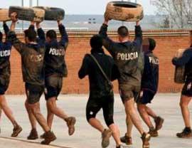 Épreuves physiques police