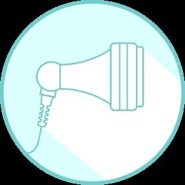 Applicateur: un applicateur de 70 mm de diamètre